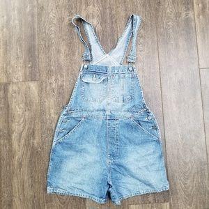 NY Jeans Denim Overall Shorts - medium